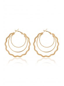 Chic Wave Hoop Earrings