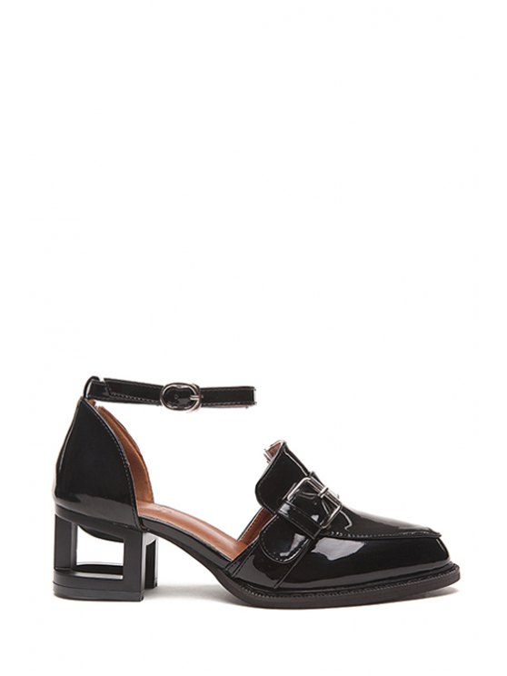 outfits Buckle Solid Color Strange Heel Pumps - BLACK 37
