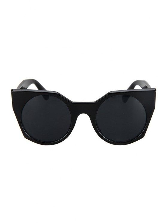 Round Lenses Black Cat Eye Sunglasses - BLACK  Mobile