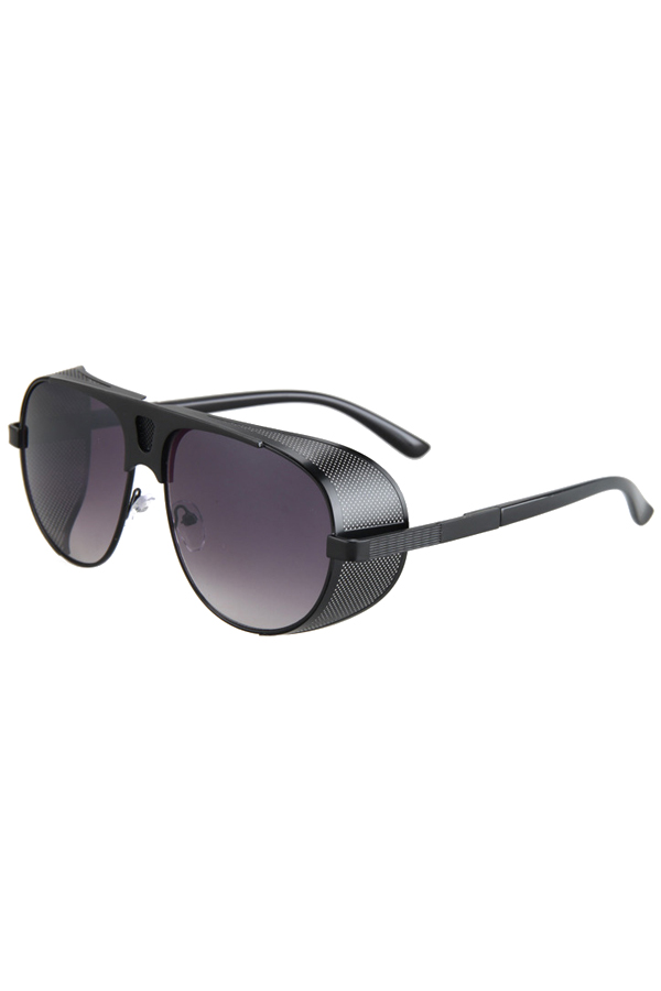 Hollow Out Hole Black Metal Sunglasses