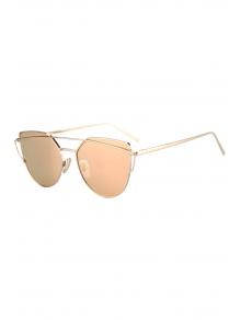 Metal Bar Golden Frame Pilot Sunglasses