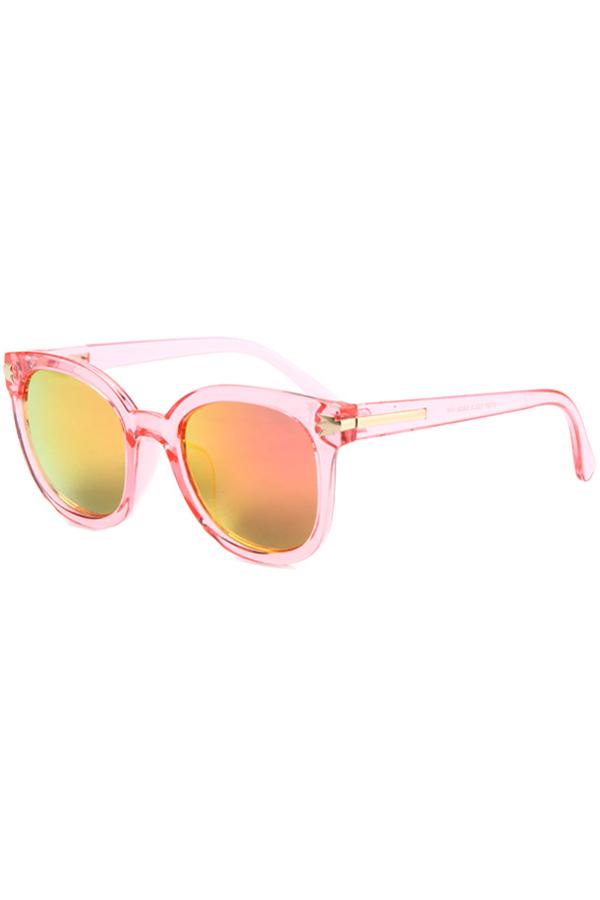 Metal Inlay Transparent Sunglasses