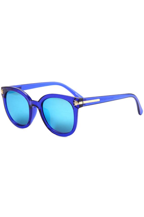 Metal Inlay Transparent Sunglasses For Women