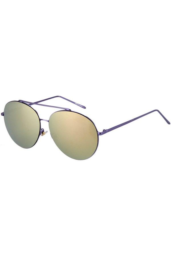 Solid Color Aviator Sunglasses