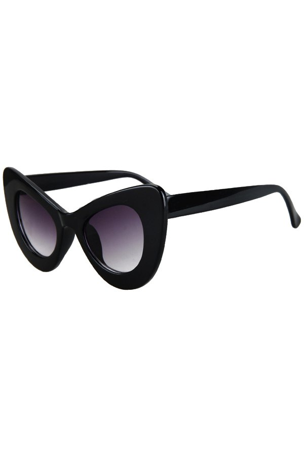 Solid Color Butterfly Shape Sunglasses