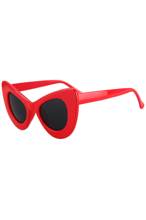Solid Color Butterfly Shape Sunglasses For Women
