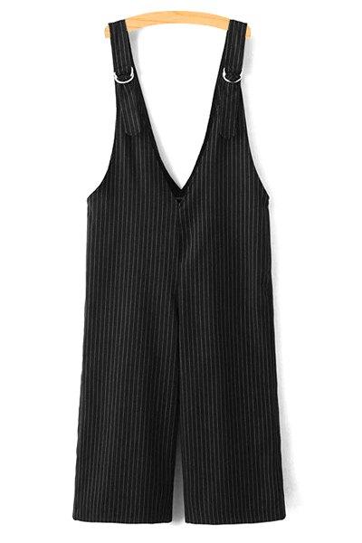 Vertical Stripe Overalls