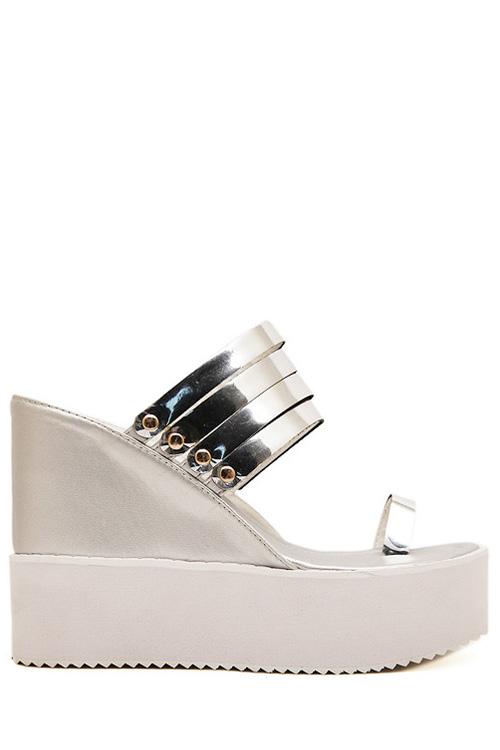 Wedge Heel Design Slippers For Women