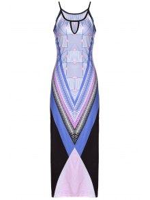 Bohemian Print Cami Slit Maxi Dress