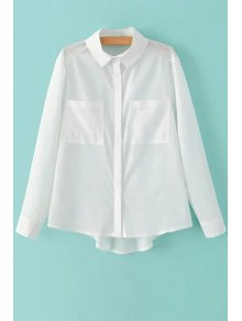 Two Pockets White Shirt