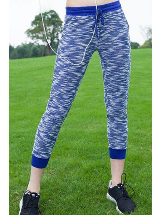 Élégant Drawstring Sport Pants - Bleu S