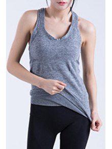Buy Racerback Fitted Quick Dry Tank Top - GRAY M