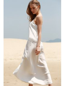 White Tassels Cami Maxi Dress