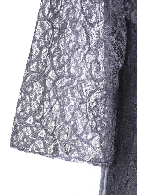 outfits Openwork Lace Hook Dress + Camisole Dress Twinset - GRAY XXS Mobile