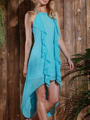High Low Sleeveless Chiffon Dress