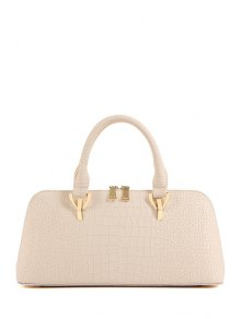 Metal Crocodile Print Solid Color Tote Bag