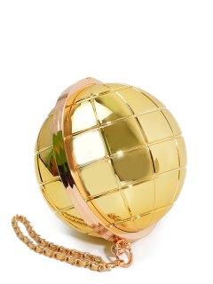 Metallic Color Ball Shape Chains Evening Bag - Golden