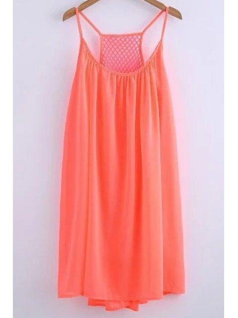 lady Chiffon Mesh Design Flippy Dress - JACINTH S Mobile