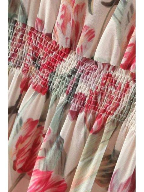 shops Floral Long Sleeve Blouson Dress - COLORMIX M Mobile