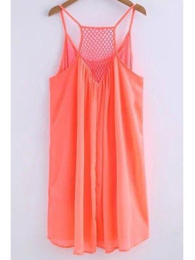 Chiffon Mesh Design Flippy Dress - JACINTH M Mobile