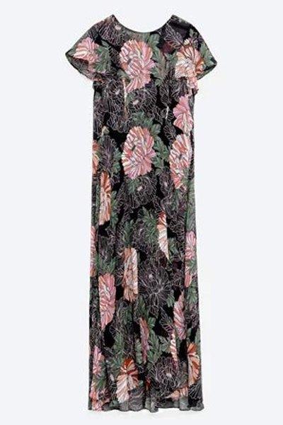 Floral Print Round Collar Short Sleeve Dress от Zaful.com INT
