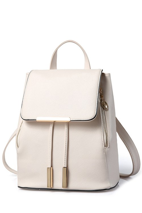 Solid Color Design Satchel For Women
