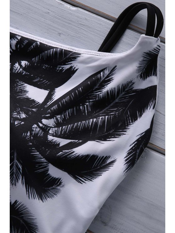 Coconut Palm Print Cami One Piece Swimwear - COLORMIX XL Mobile
