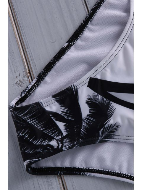 outfit Coconut Palm Print Cami One Piece Swimwear - COLORMIX XL Mobile