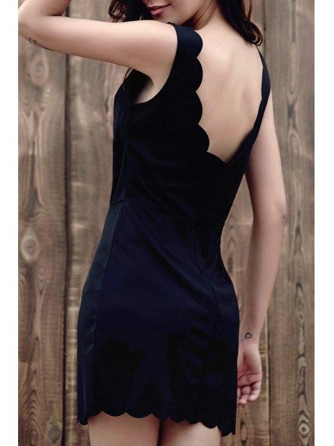 sale Black V-Neck Sleeveless Bodycon Dress - BLACK L Mobile
