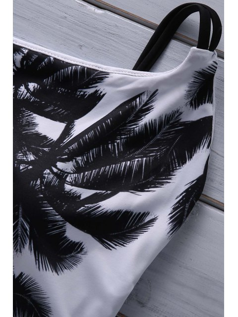 online Coconut Palm Print Cami One Piece Swimwear - COLORMIX S Mobile