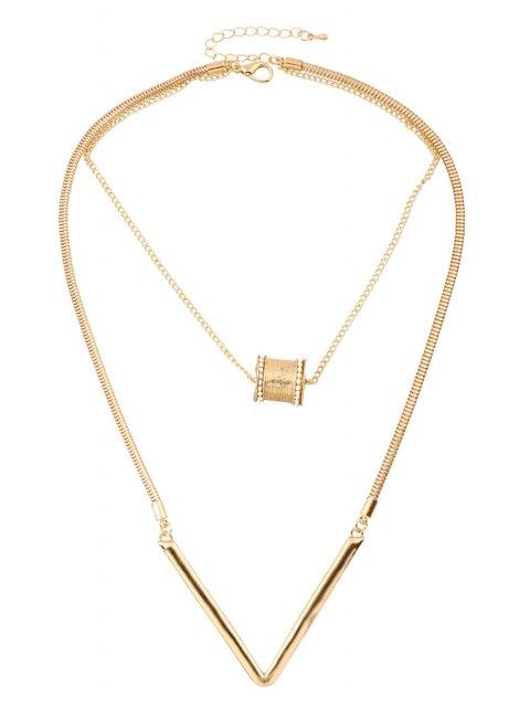 sale Bead Letter V Shape Pendant Necklace -   Mobile