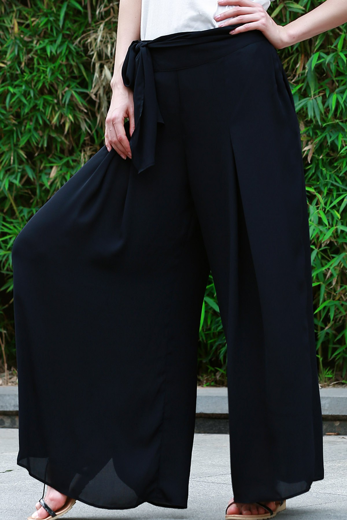High Waisted Tie Up Culotte