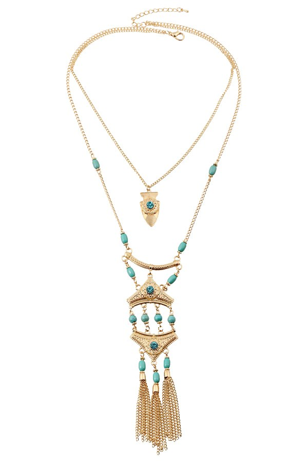 Tassel Ethnic Pendant Necklace