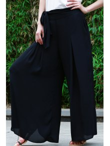 High-Waisted Tie-Up Culotte