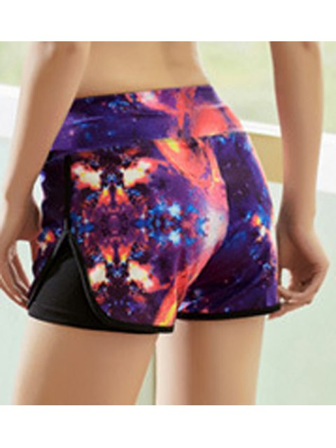 chic Colored Workout Shorts - COLORMIX L Mobile