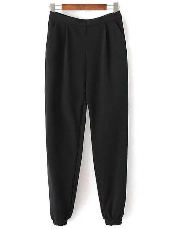 Pantalones de color sólido del basculador - Negro M