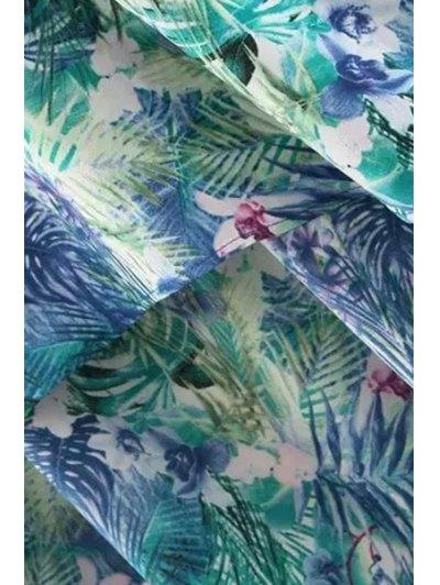 Leaf Print High-Low V Neck Sleeveless Dress от Zaful.com INT