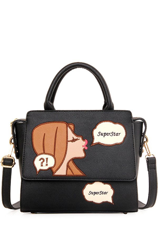 Cartoon Pattern Design Tote Bag For Women