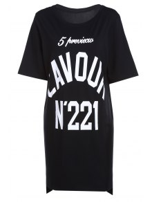 Number Print Round Neck Short Sleeves T-Shirt