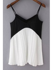 Color Block Pleated Cami Top