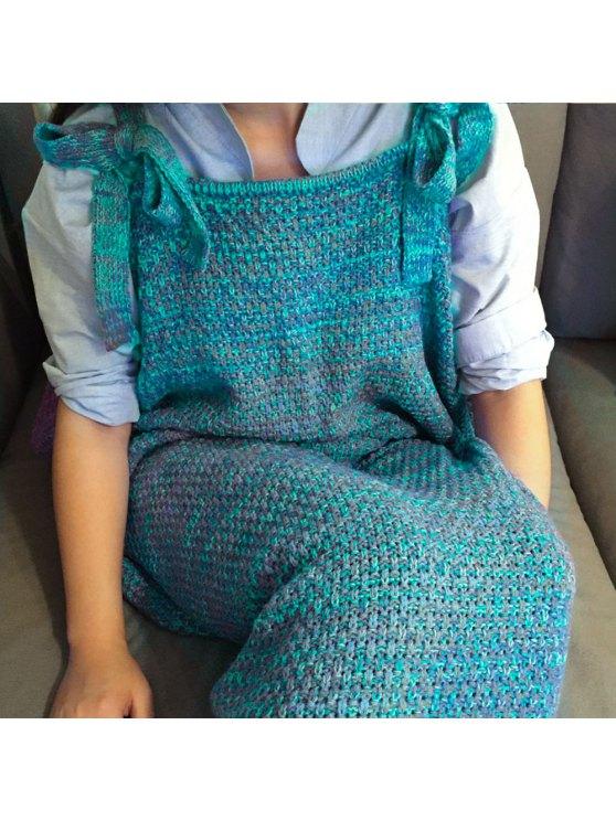Knitted Mermaid Design Sleeping Bag Blanket -   Mobile