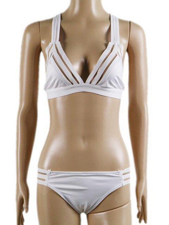 buy Mesh Panel Bathing Set - WHITE L