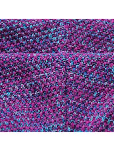 Knitted Mermaid Design Throw Blanket - PURPLE  Mobile