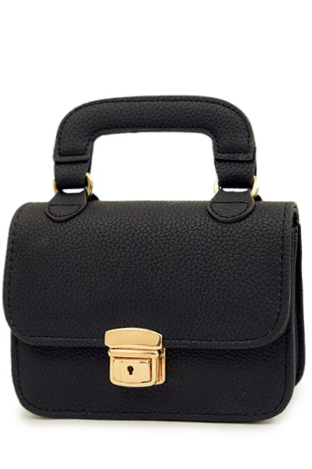 Chains Solid Color Push Lock Tote Bag