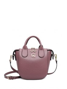PU Leather Solid Color Tote Bag