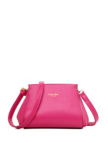 Letter Print Solid Color Crossbody Bag