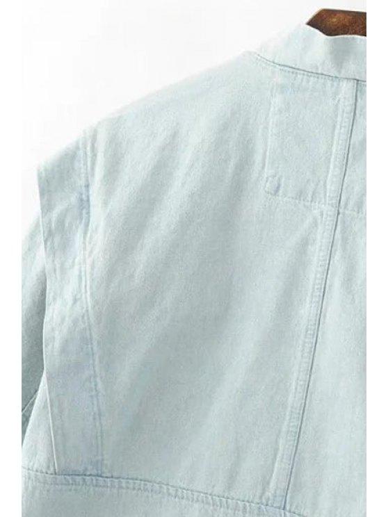 Big Pocket Denim Jacket - LIGHT BLUE M Mobile