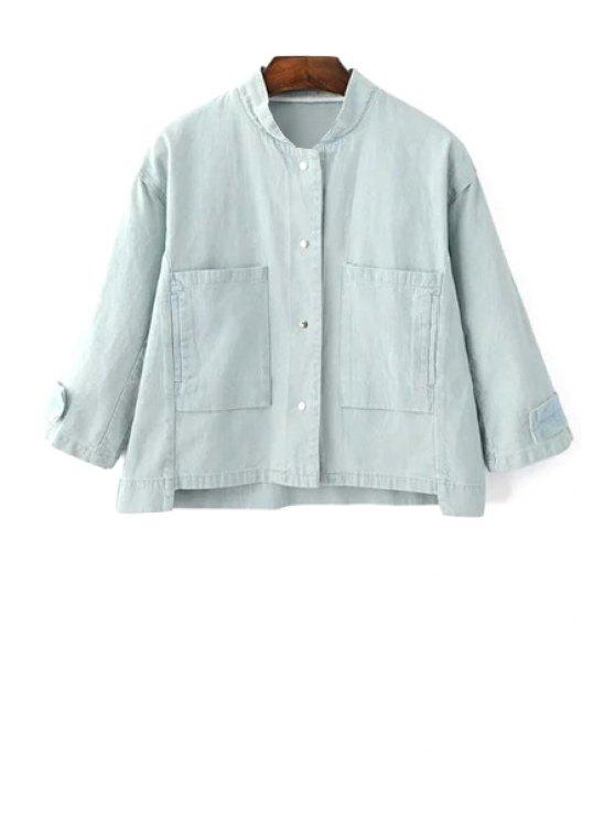 buy Big Pocket Denim Jacket - LIGHT BLUE M
