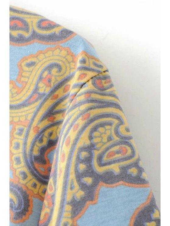 V-Back Paisley Print Tee Dress - COLORMIX M Mobile