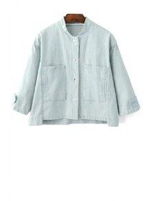 Big Pocket Denim Jacket - Bleu Clair S